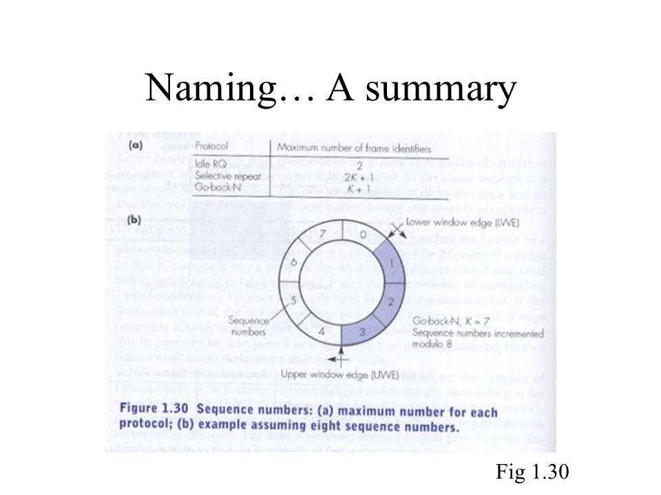 Naming… A summary Fig 1.30