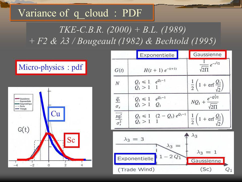 Micro-physics : pdf TKE-C.B.R. (2000) + B.L.