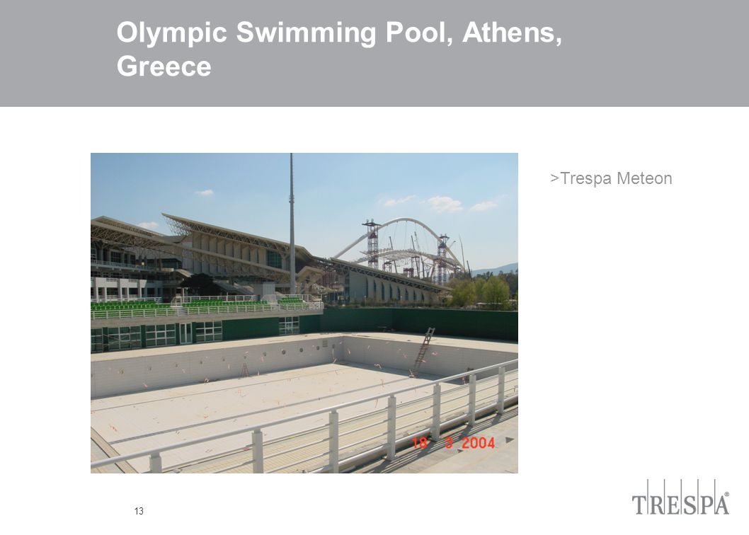 13 Olympic Swimming Pool, Athens, Greece >Trespa Meteon