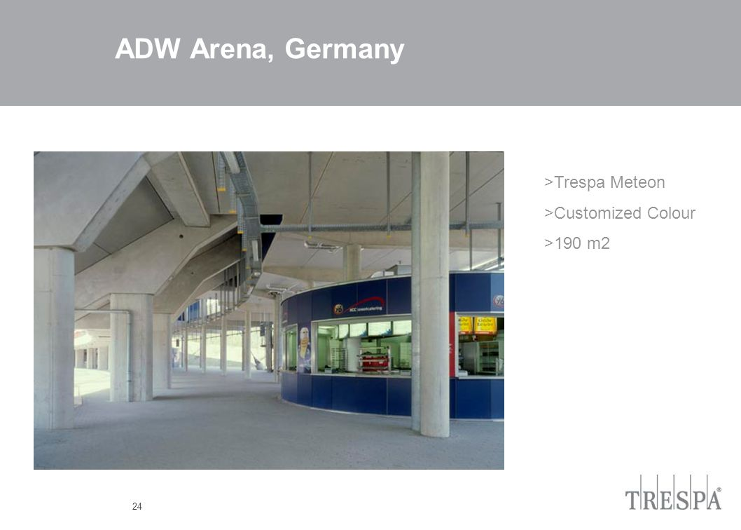 24 ADW Arena, Germany >Trespa Meteon >Customized Colour >190 m2