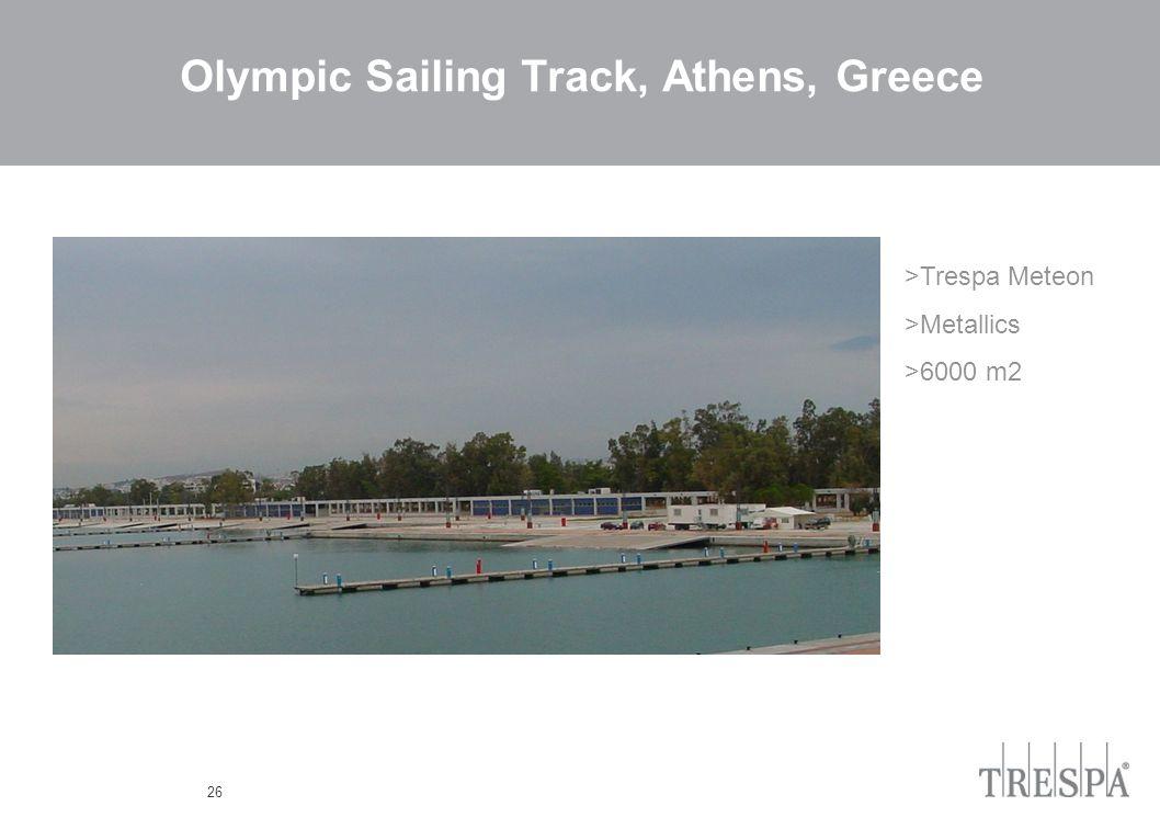 26 Olympic Sailing Track, Athens, Greece >Trespa Meteon >Metallics >6000 m2