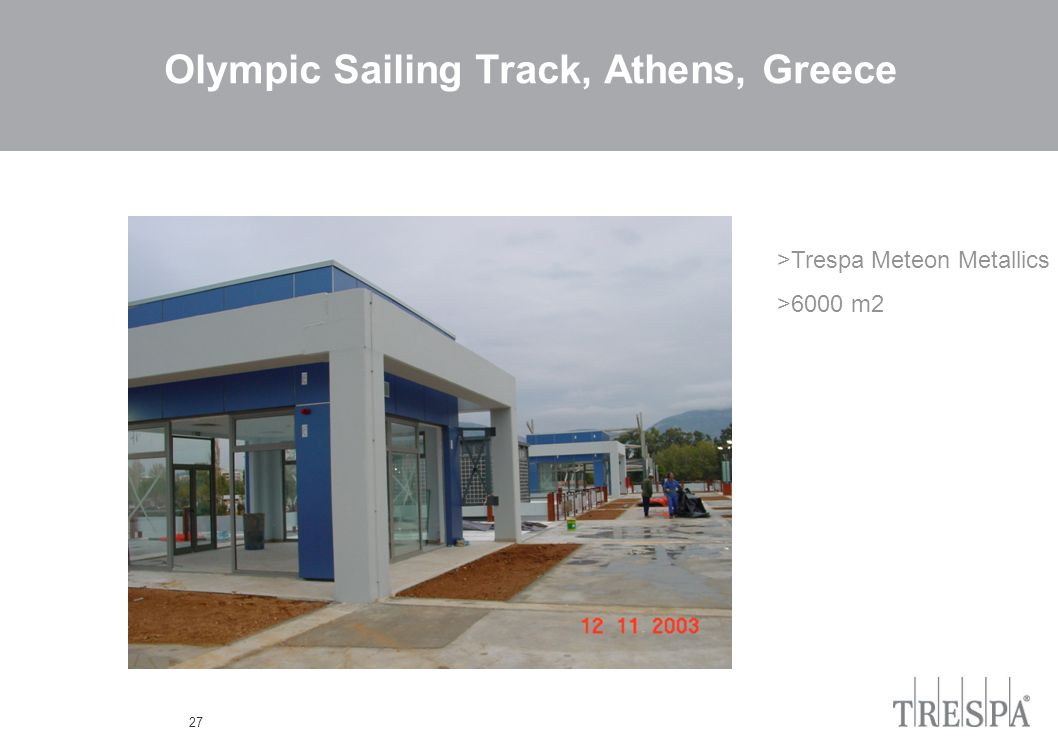 27 Olympic Sailing Track, Athens, Greece >Trespa Meteon Metallics >6000 m2