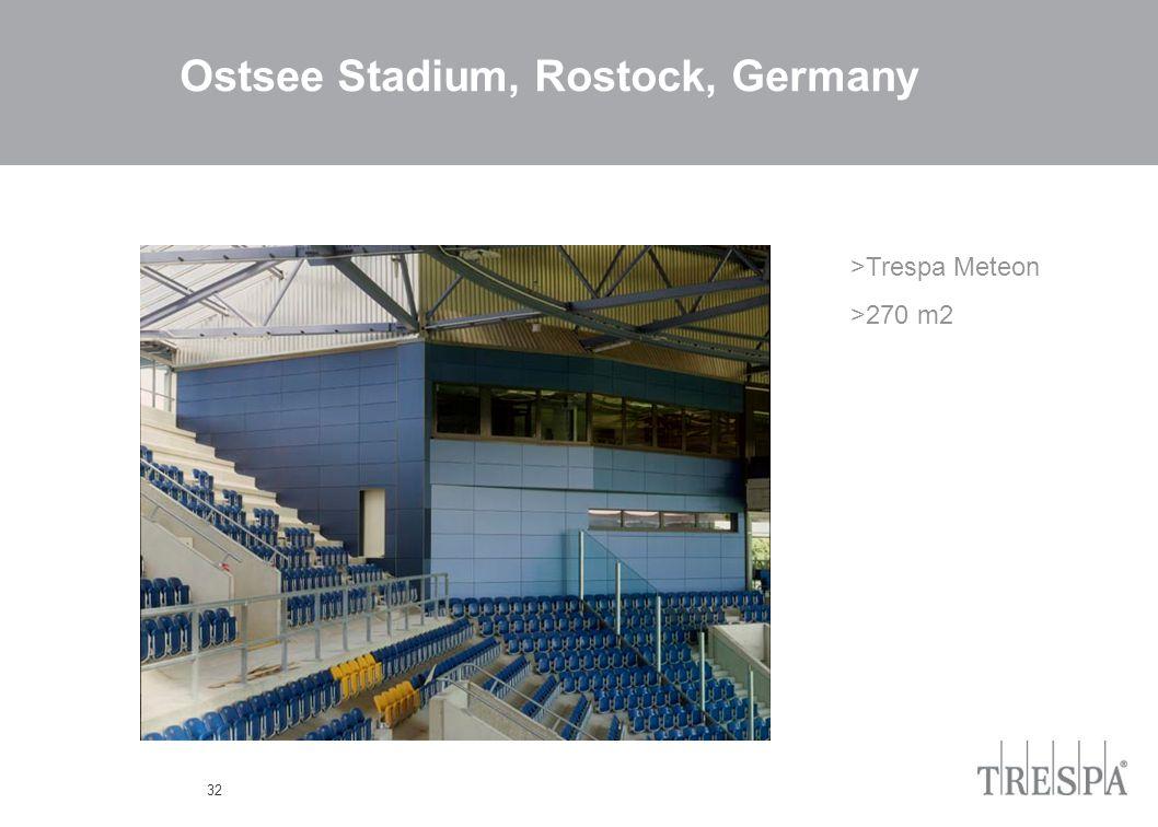 32 Ostsee Stadium, Rostock, Germany >Trespa Meteon >270 m2