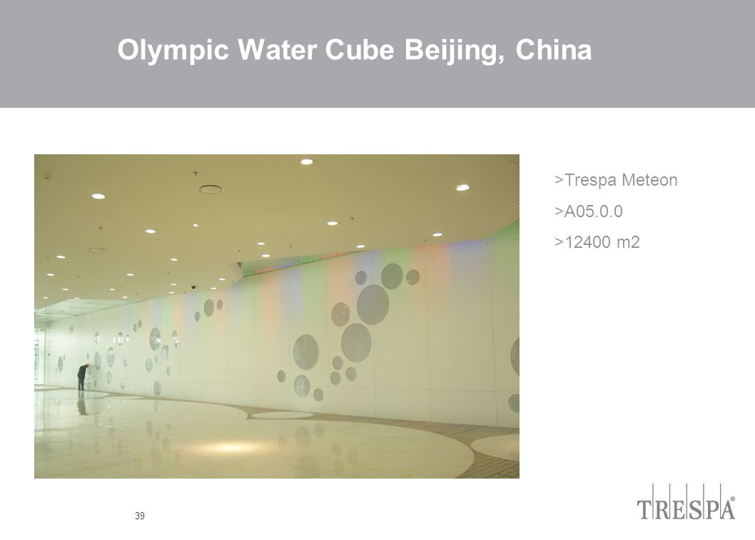 39 Olympic Water Cube Beijing, China >Trespa Meteon >A05.0.0 >12400 m2