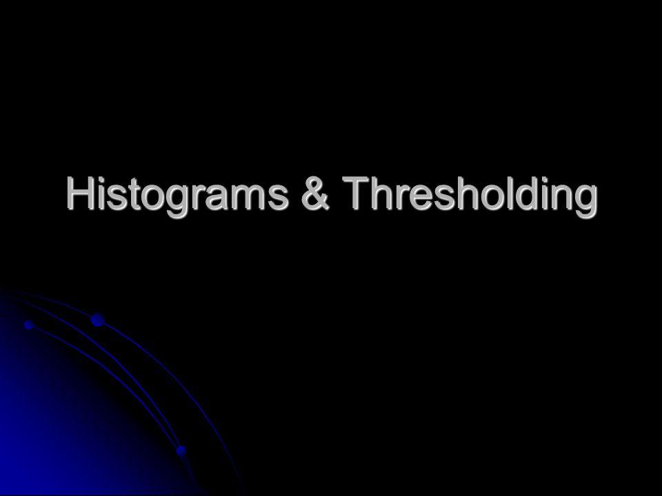 Histograms & Thresholding
