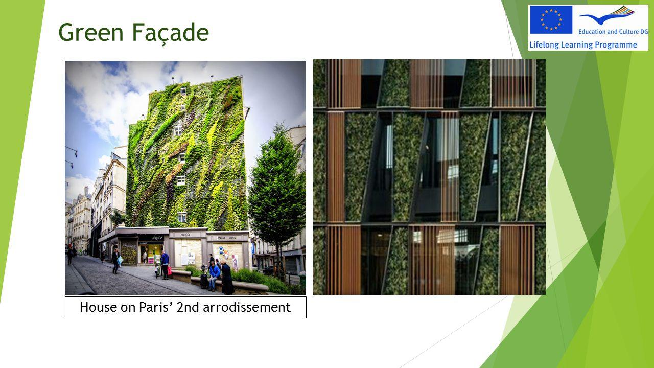 Green Façade House on Paris' 2nd arrodissement