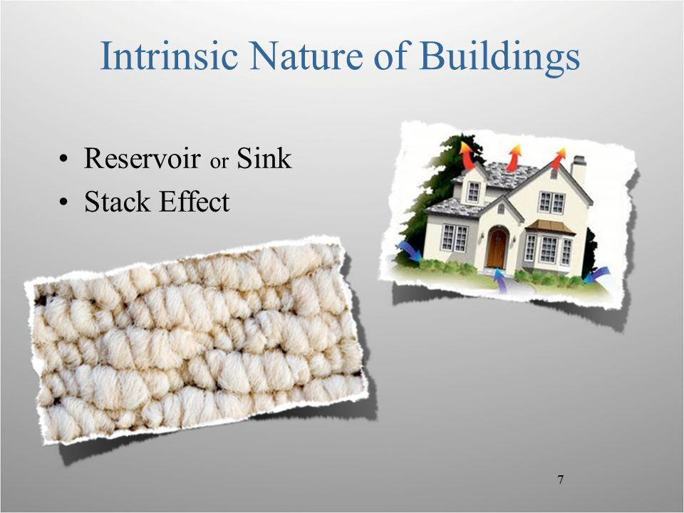7 Intrinsic Nature of Buildings Reservoir or Sink Stack Effect 7