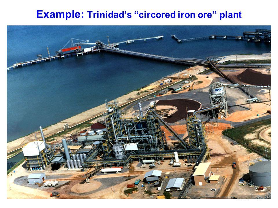 6 Slide Example: Trinidad's circored iron ore plant