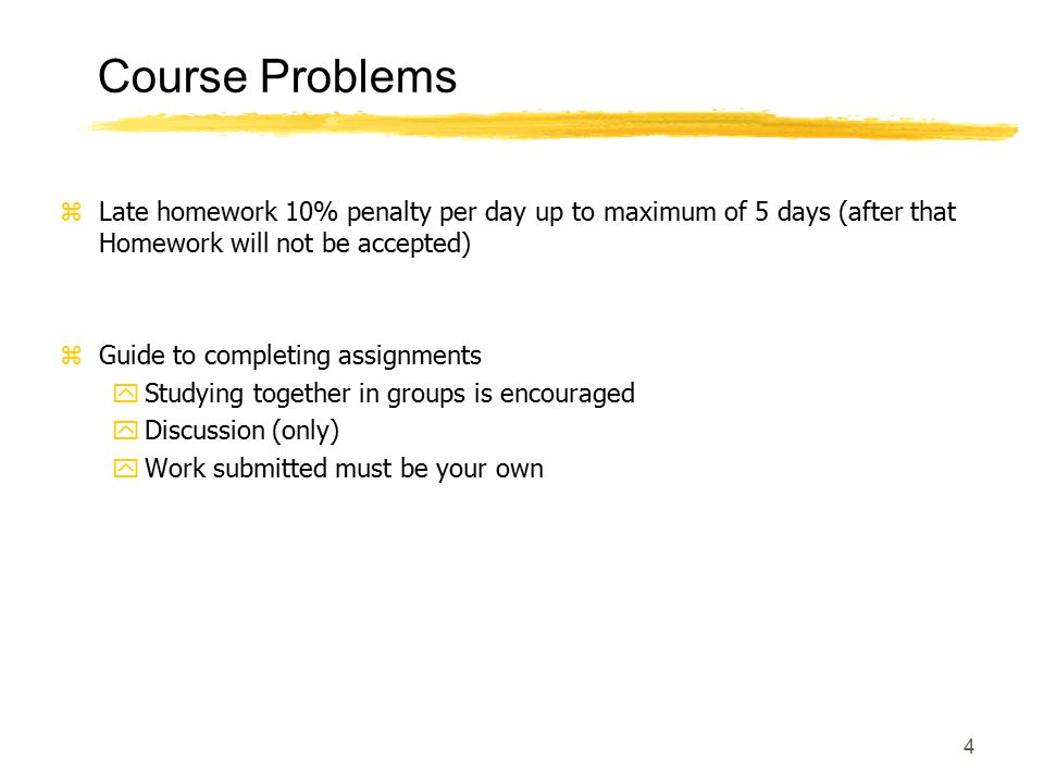 5 Course Philosophy zBook to be used as supplement for lectures (If a topic is not covered in the class, or a detail not presented in the class, that means I expect you to read on your own to learn those details) zRegular Homework (10%) zLab (30%)- Attend orientation @ ELW A359.