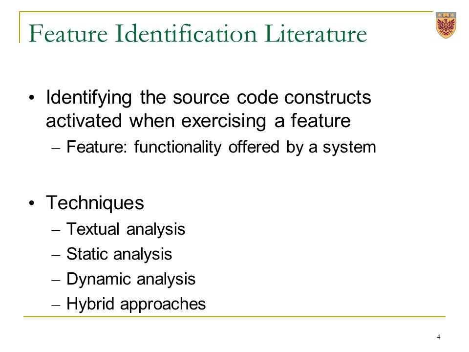 Trace-based Dynamic Analysis Instrumentation – TPTP Scenario execution Trace analysis – Pattern mining 5
