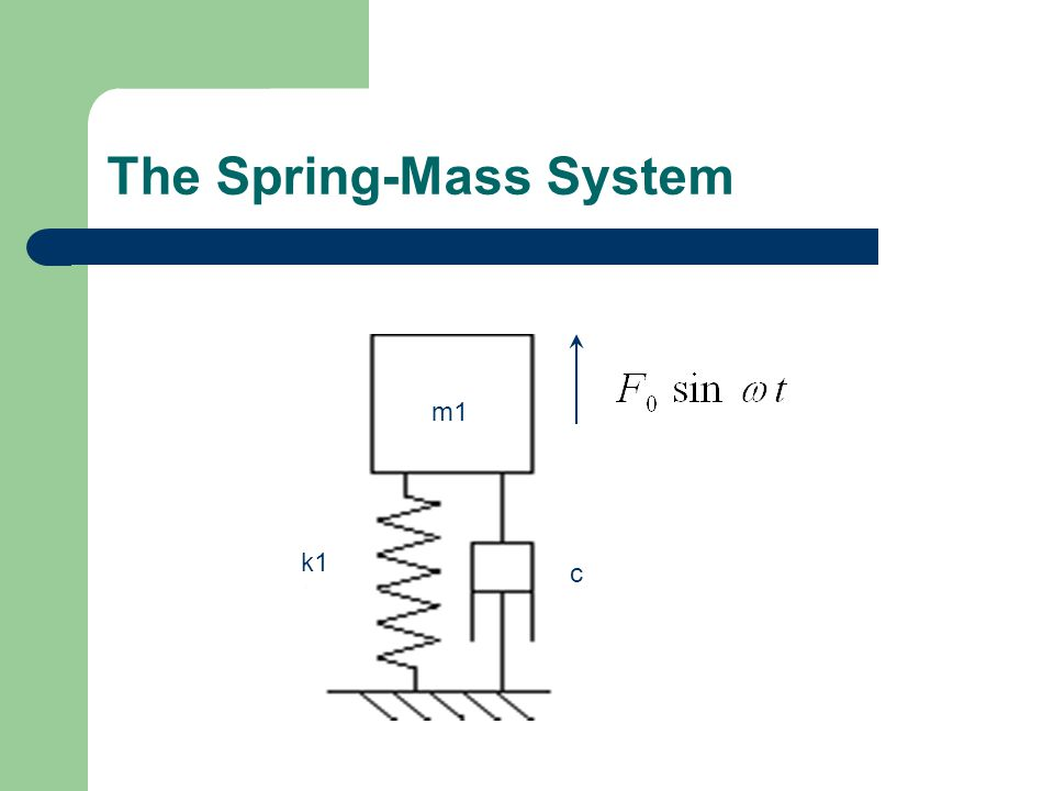 The Spring-Mass System m1 c k1