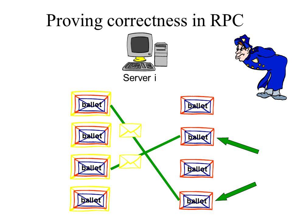 Proving correctness in RPC Server i ballot