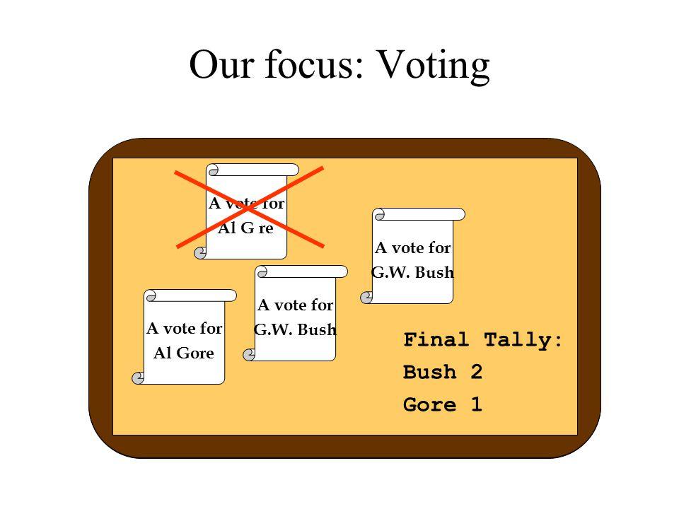 Server pairing Server 2i Server 2i+1 ballot Left or right? ballot