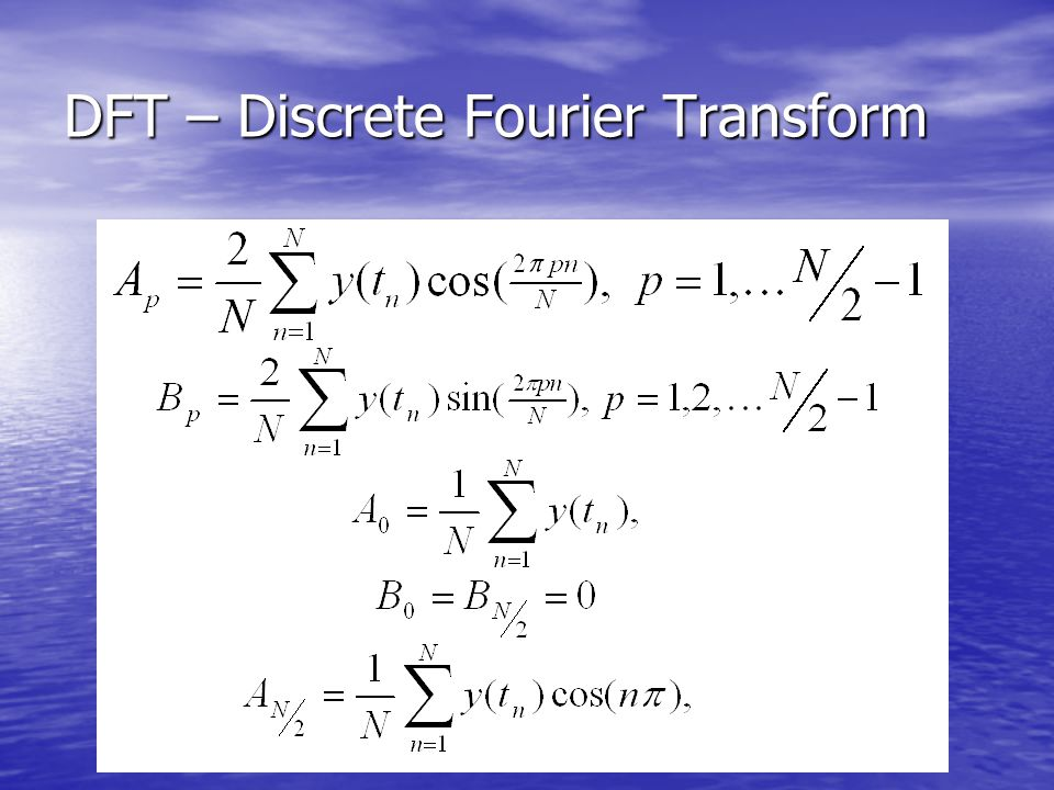 DFT – Discrete Fourier Transform
