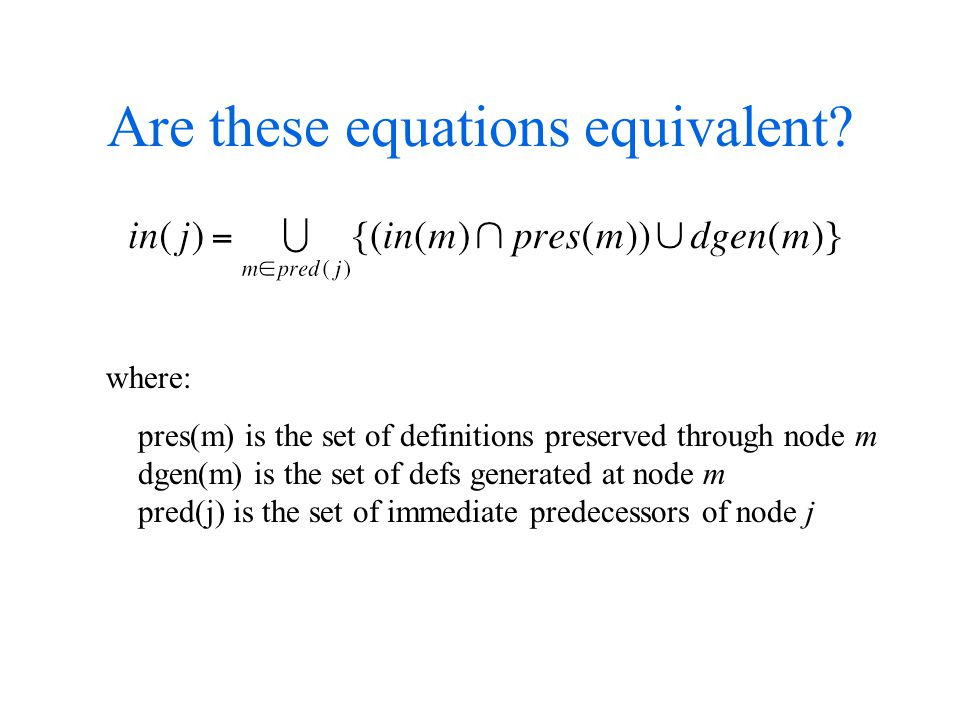 Are these equations equivalent.