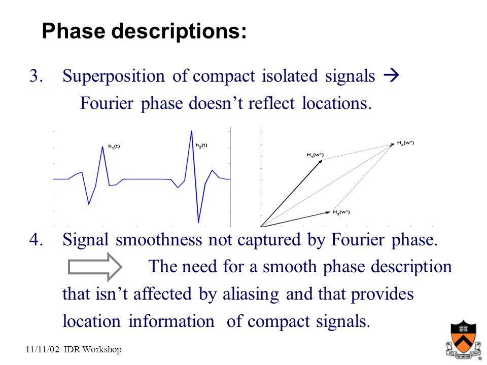 11/11/02 IDR Workshop Phase descriptions: 3.