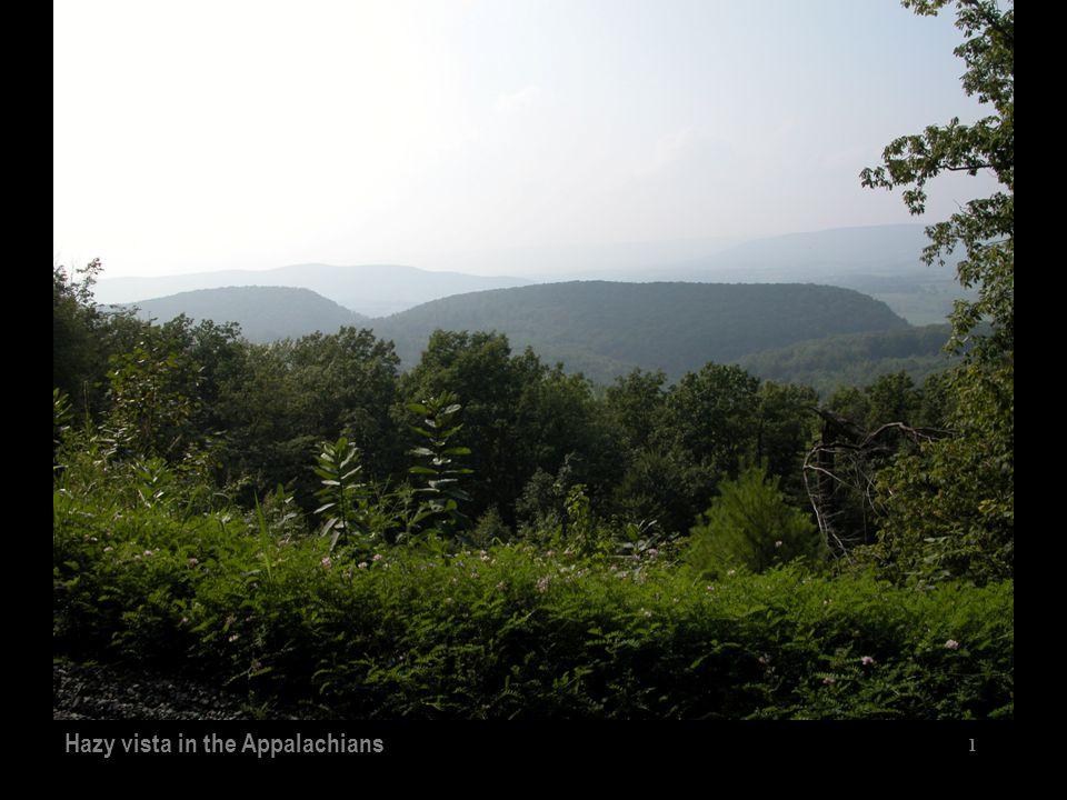 1 Hazy vista in the Appalachians