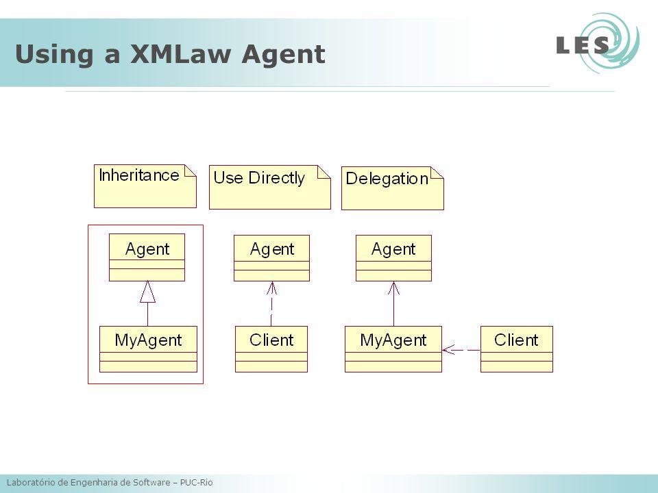 Laboratório de Engenharia de Software – PUC-Rio Using a XMLaw Agent