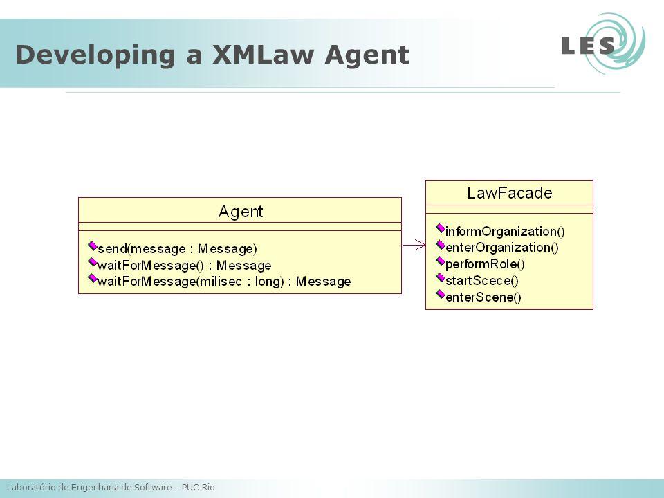 Laboratório de Engenharia de Software – PUC-Rio Developing a XMLaw Agent