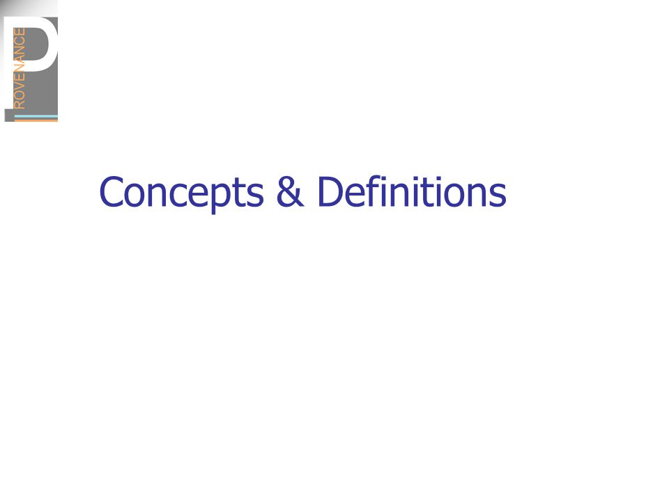 Concepts & Definitions
