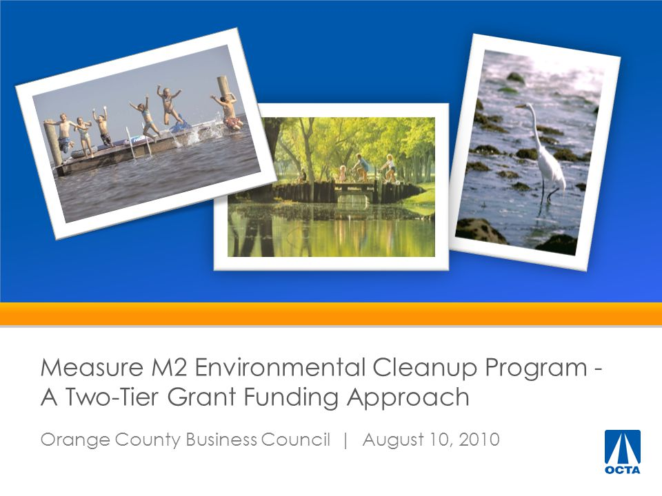 Background 1.M2 - Water Quality Program Component 2.