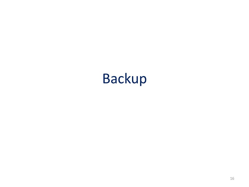 Backup 16