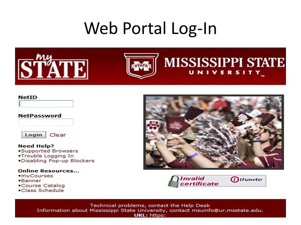 Web Portal Log-In