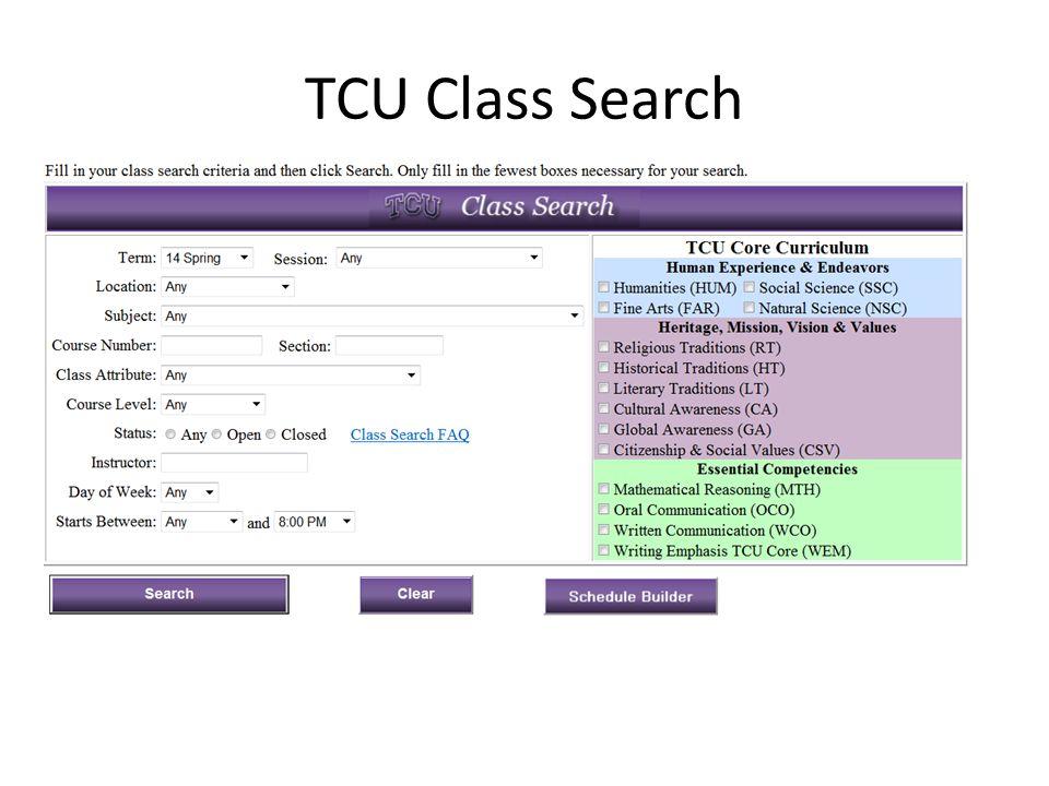 Search by TCU Core Curriculum