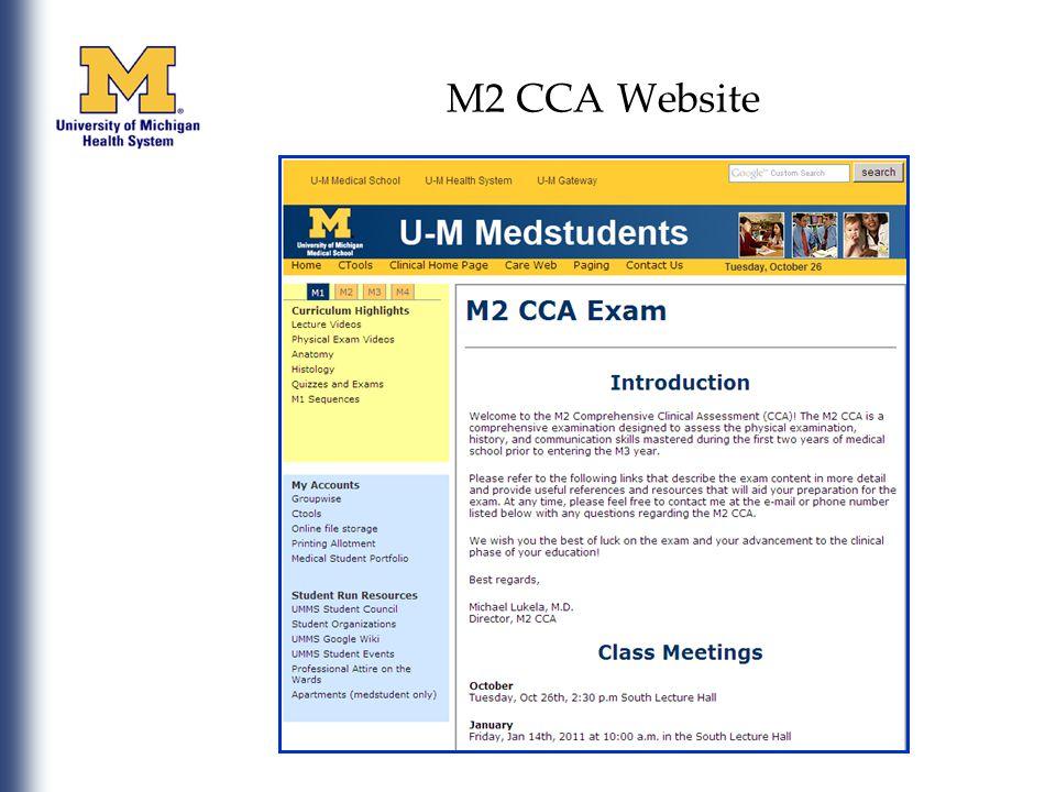 M2 CCA Website