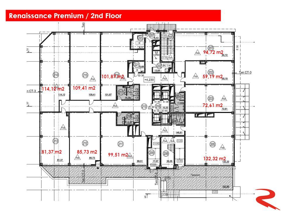 114,12 m2 109,41 m2 94,72 m2 59,19 m2 72,61 m2 132,32 m2 99,51 m2 85,73 m281,37 m2 101,87 m2 Renaissance Premium / 2nd Floor