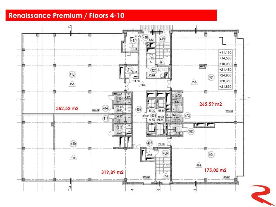 352,52 m2 265,59 m2 175,05 m2 319,89 m2 Renaissance Premium / Floors 4-10
