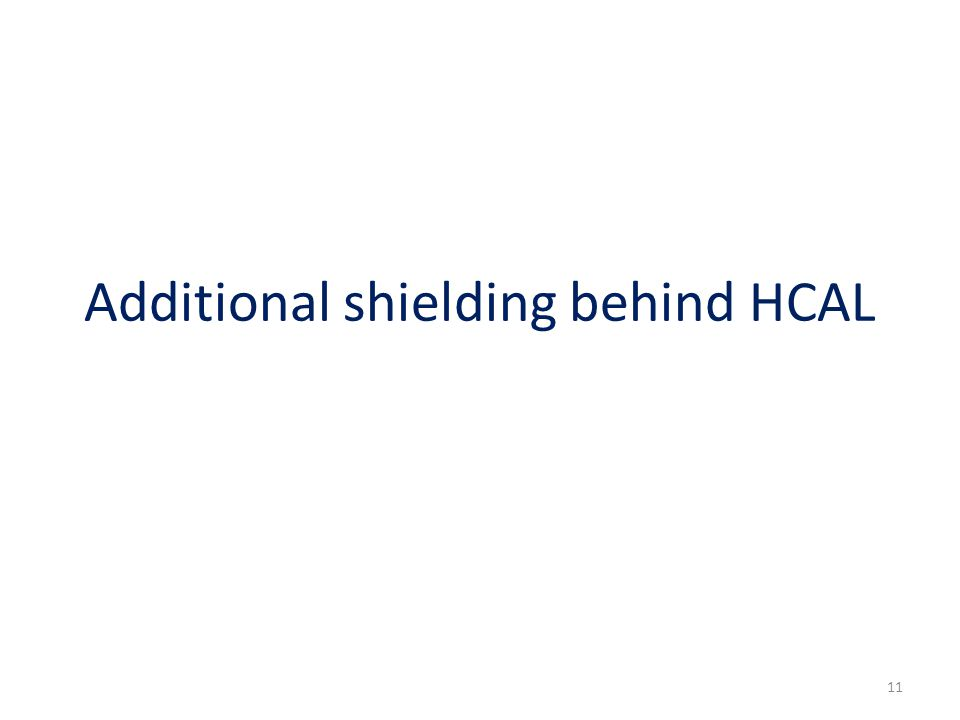 Additional shielding behind HCAL 11