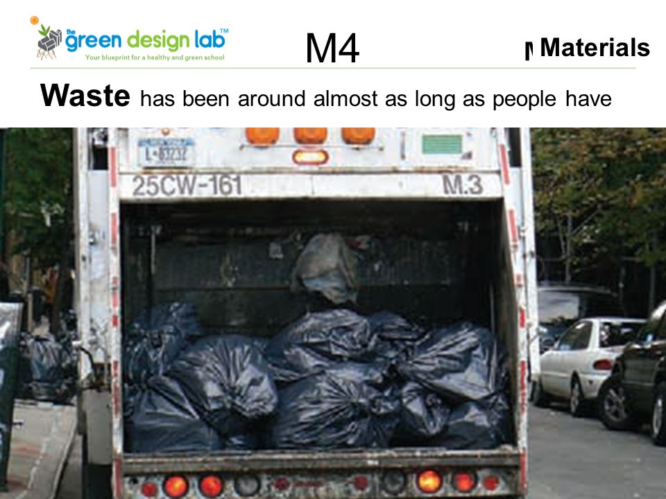 Materials M4 Waste has been around almost as long as people have