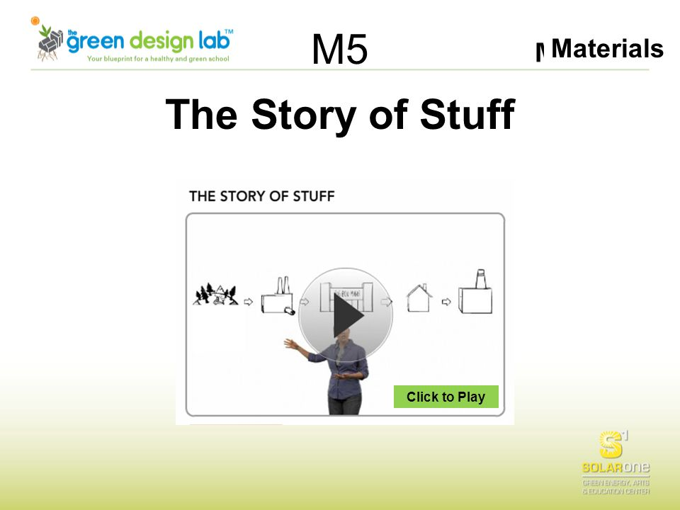 Materials M5 The Story of Stuff Click to Play