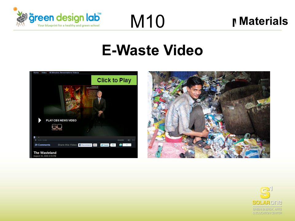 Materials M10 E-Waste Video Click to Play