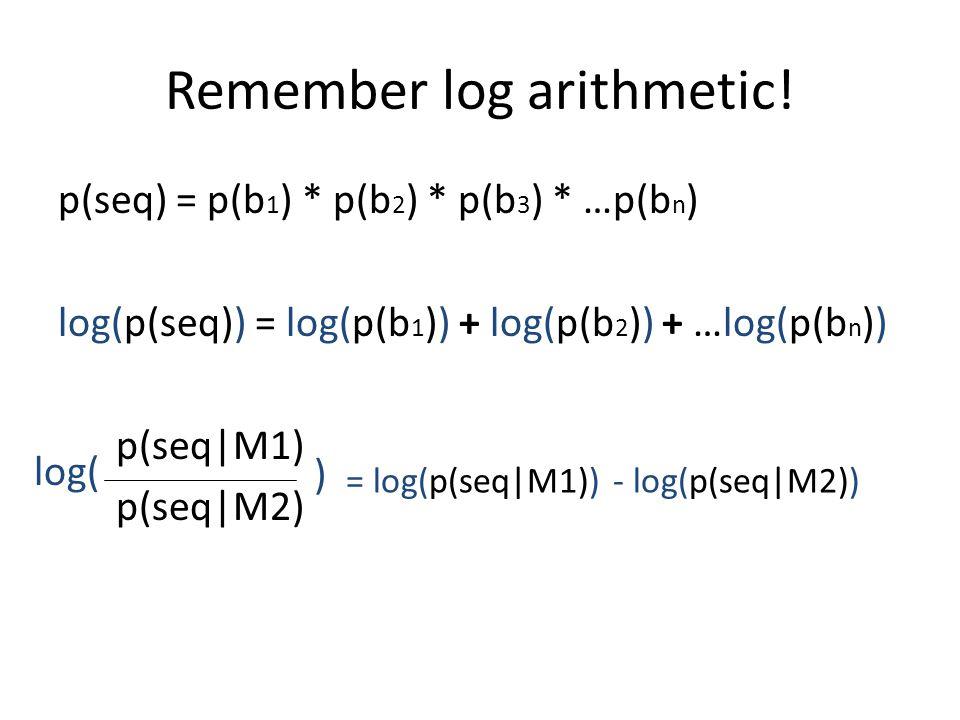 Remember log arithmetic.