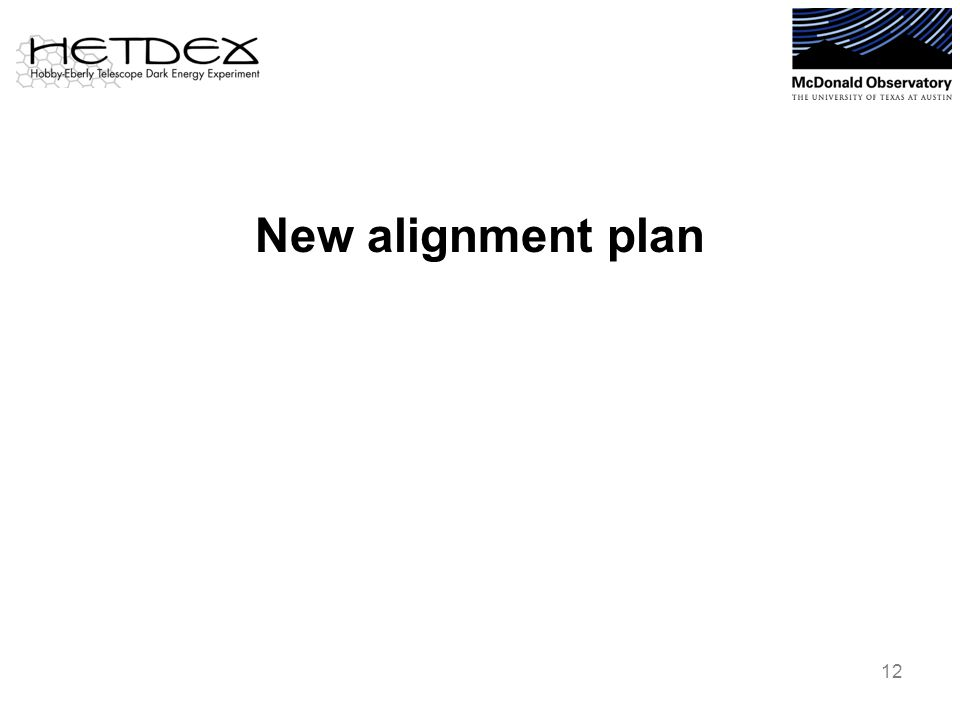 New alignment plan 12