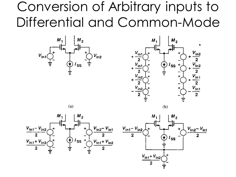 Conversion of Arbitrary inputs to Differential and Common-Mode Components