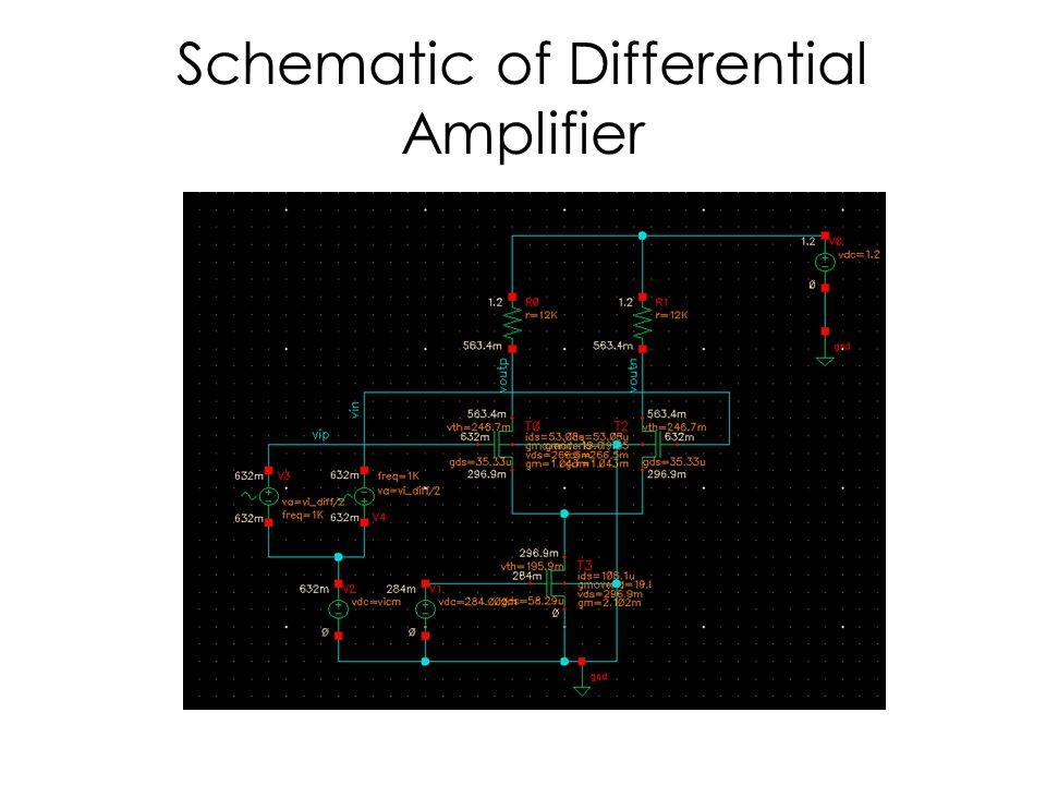 Schematic of Differential Amplifier