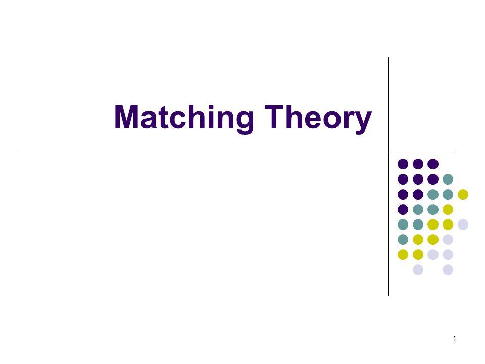 Matching Theory 1