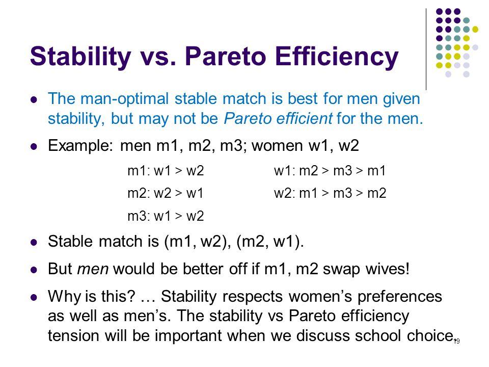 Stability vs.
