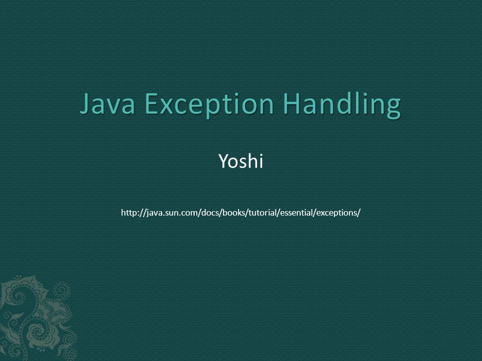  You can throw multiple exceptions  private void m2() throws Exception, ArrayIndexOutOfBoundsException  You can throw runtime exception  Remember that ArrayIndexOutOfBoundsException is an unchecked exception; including it in the throws clause is not mandatory.