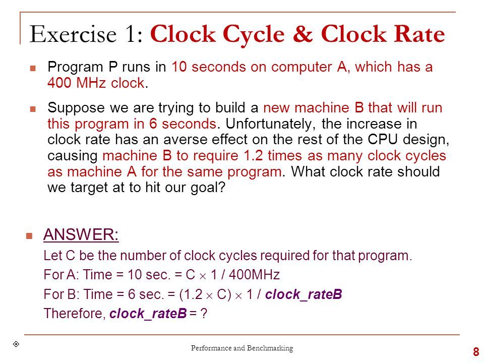 Clock Cycles: Proportional.