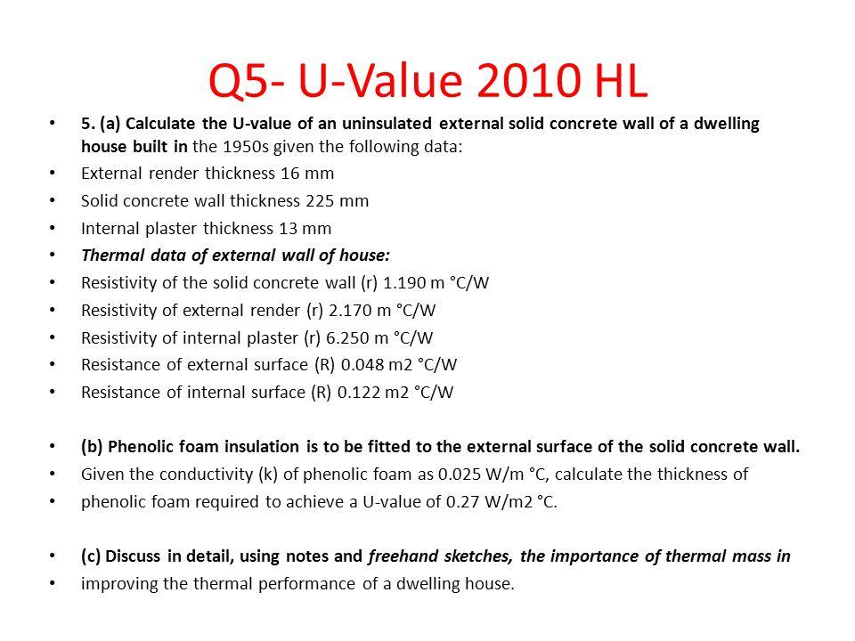 Q5- U-Value 2010 HL 5.