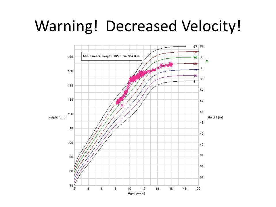 Warning! Decreased Velocity!