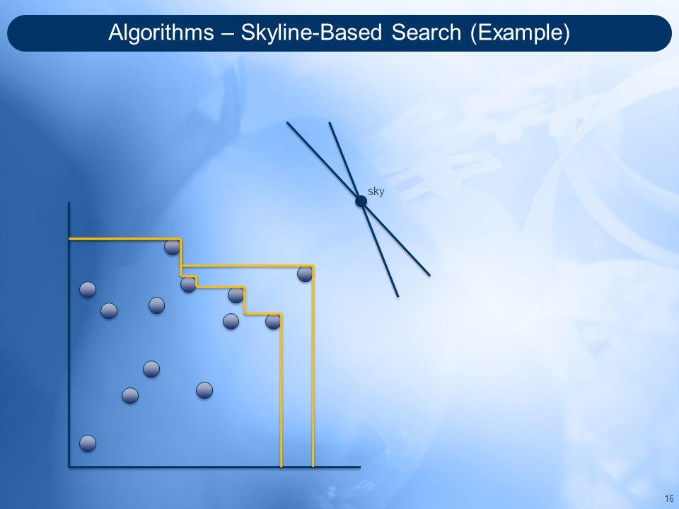 Algorithms – Skyline-Based Search (Example) 16 sky