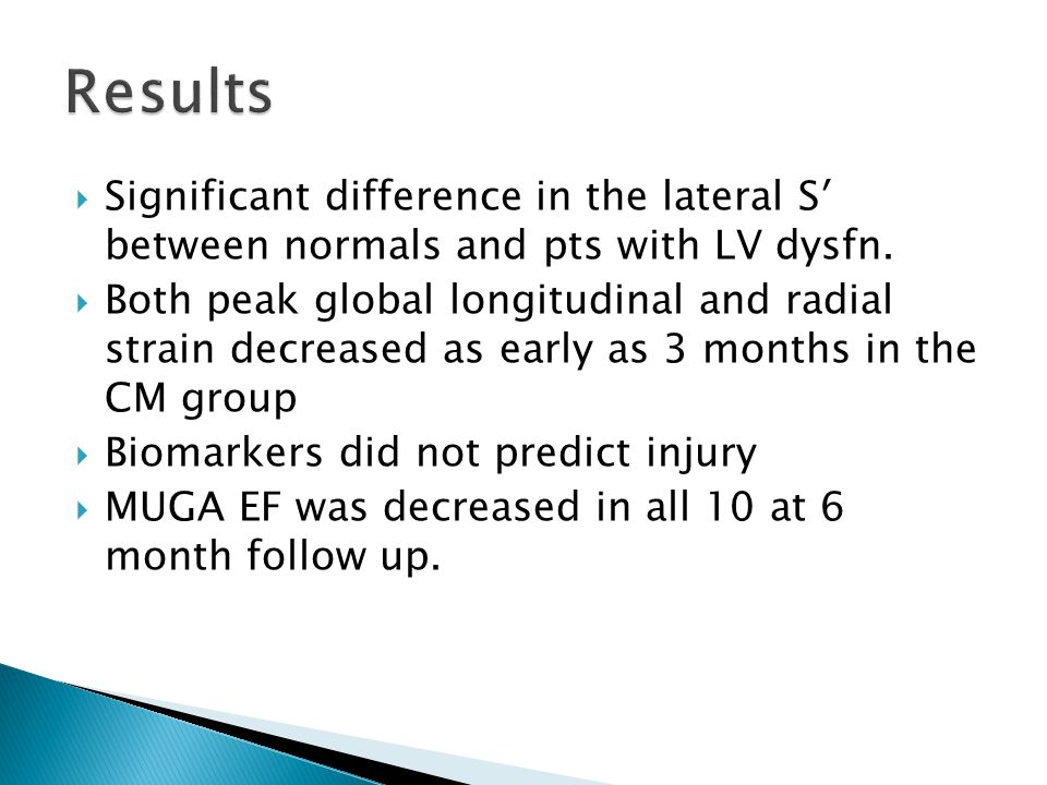  Significant difference in the lateral S′ between normals and pts with LV dysfn.