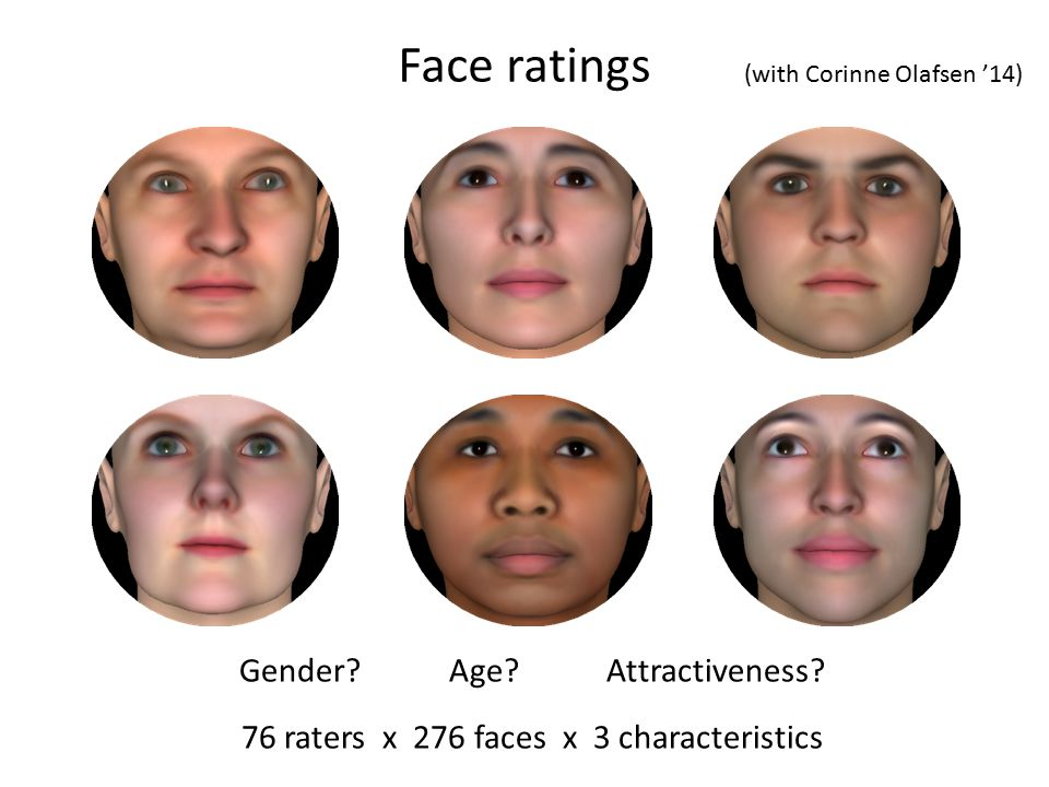Face ratings Gender. Age Attractiveness.