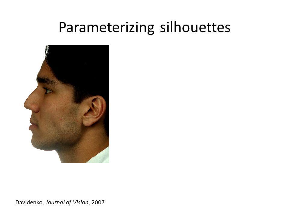 Parameterizing silhouettes Davidenko, Journal of Vision, 2007