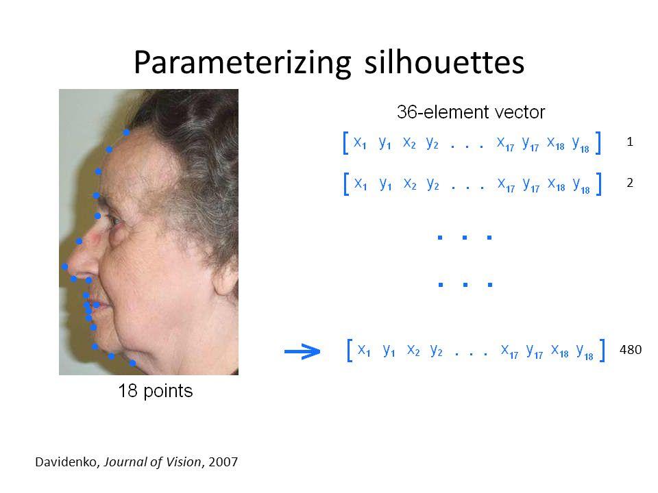 Parameterizing silhouettes Davidenko, Journal of Vision, 2007 1 2 480